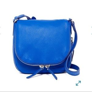 NWOT Vince Camuto Blue Bailey Leather Cross Body